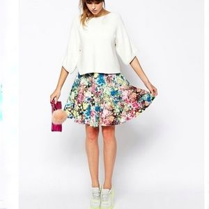 Essentiel Antwerp Full Skirt in Floral Neoprene